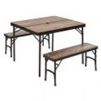 TRIGANO MDC TABLE + 4 TABOURET GREY